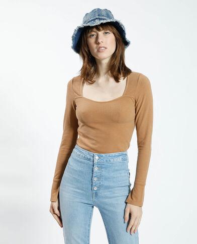 T-shirt doux camel - Pimkie