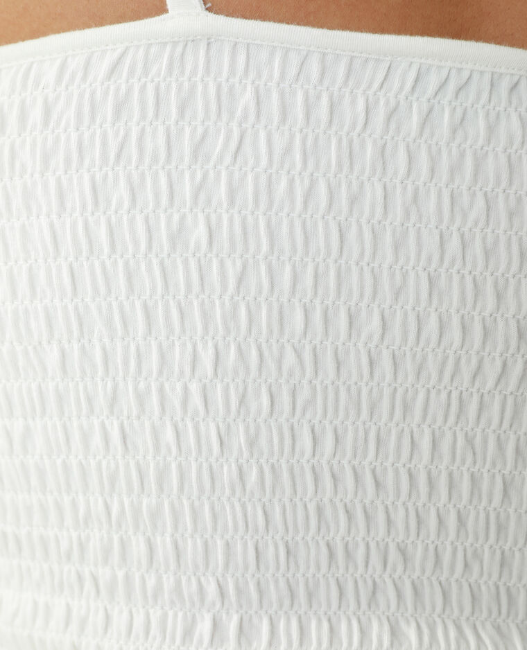 Top smocké blanc cassé - Pimkie