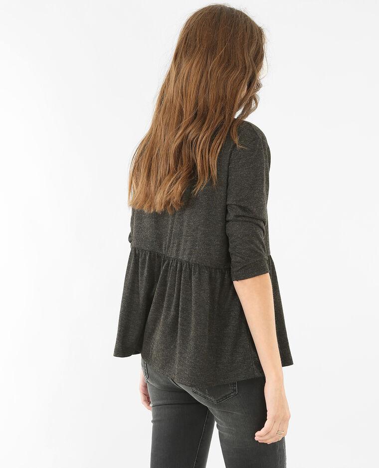 T-shirt peplum gris anthracite