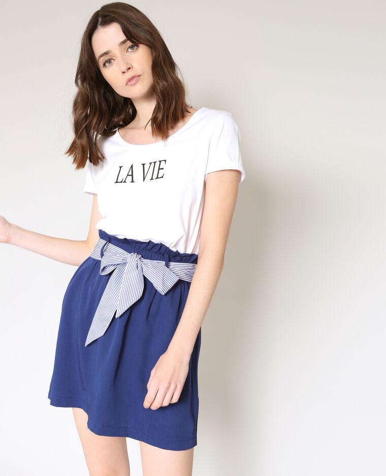 T-shirt La Vie blanc