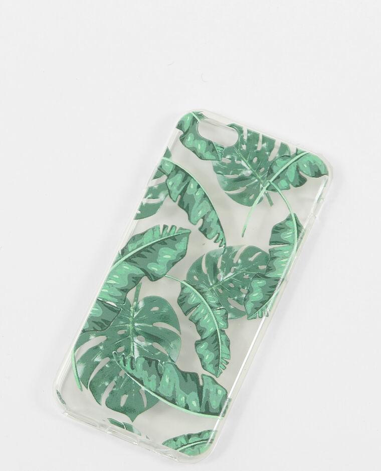 Coque compatible iPhone 6 palmiers vert