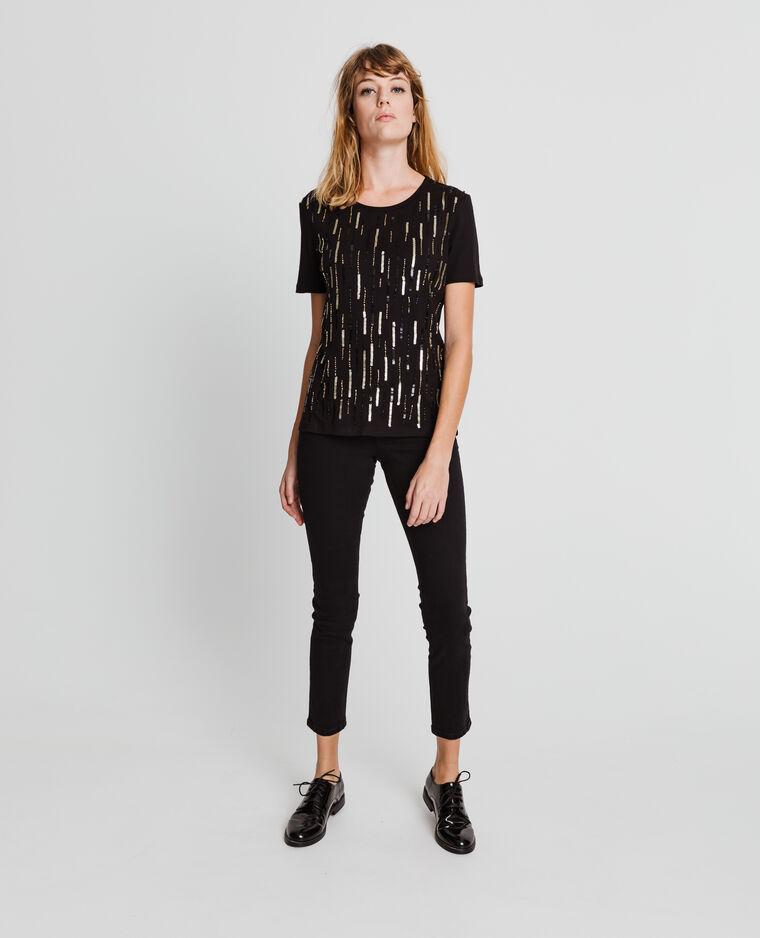 T-shirt fantaisie noir