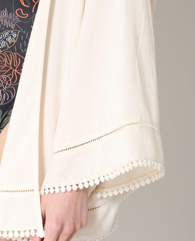 Kimono fluide rose poudré