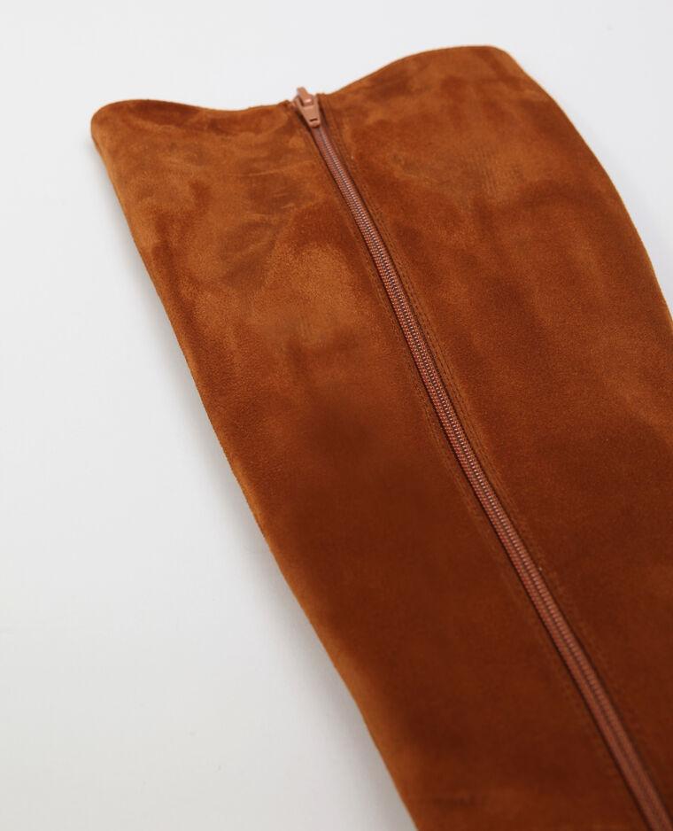 Bottes suédine marron