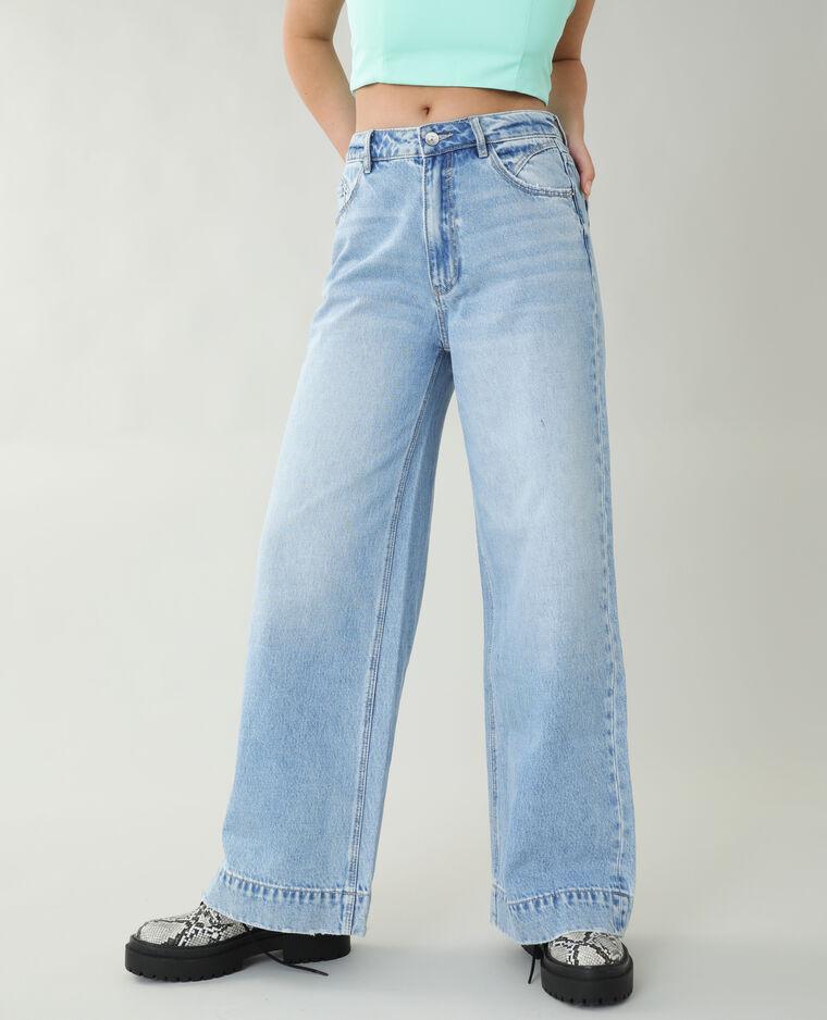 Jean wide leg bleu clair - Pimkie