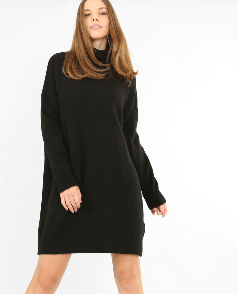 Robe pull col roulé noir - 780771899A08   Pimkie 01fc52141b5c