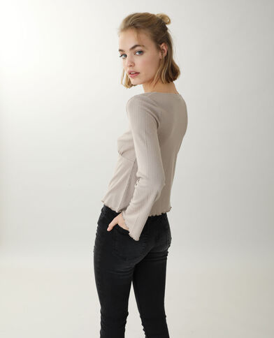 Top manches longues beige - Pimkie
