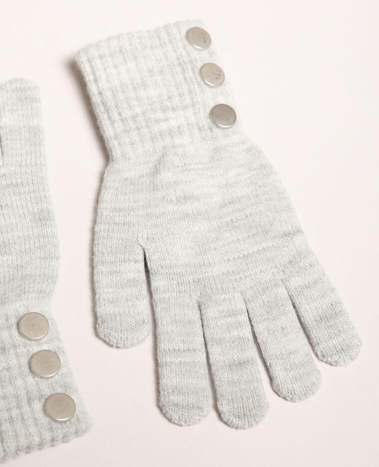 Gants boutonnés gris
