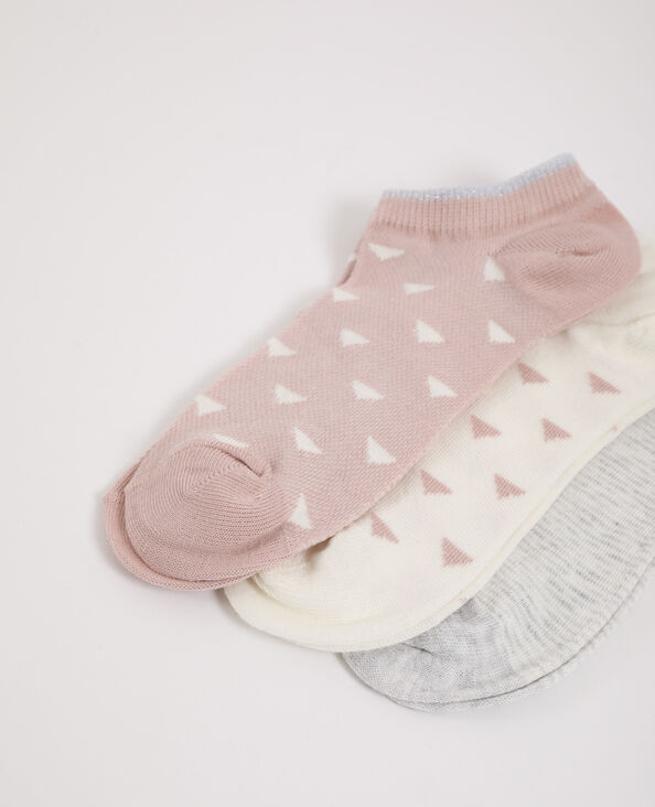 3 paires de chaussettes basses gris