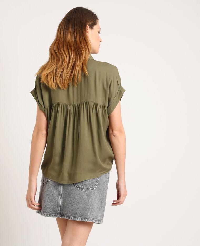 Chemise à manches courtes vert