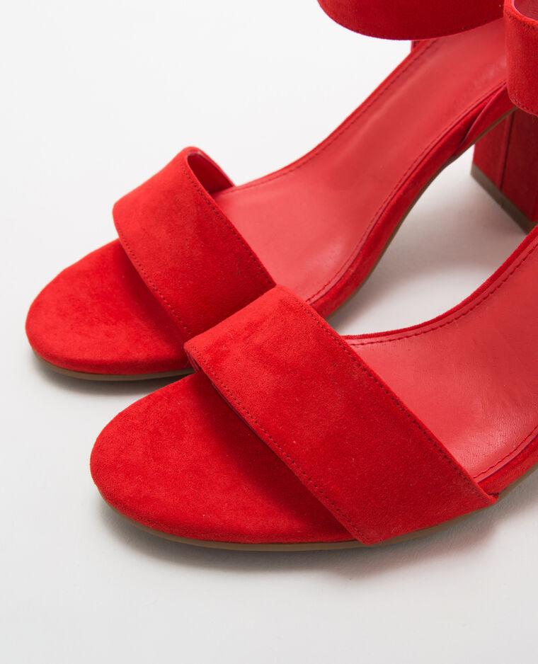 véritable sortie de gros style unique Sandales rouges à talons carrés
