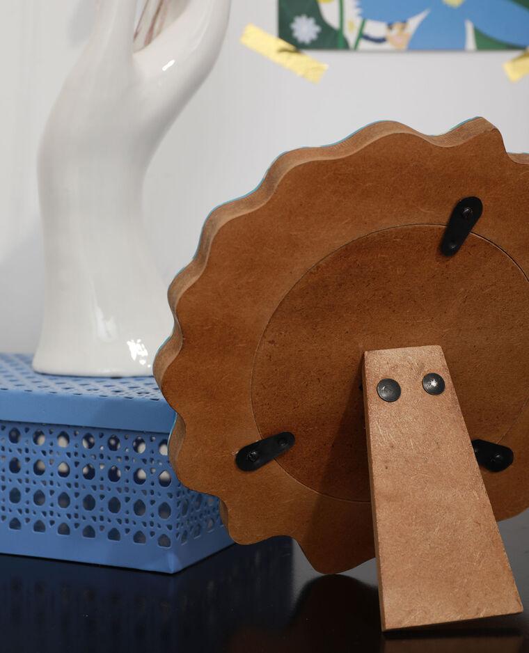 Cadre photo à taches bleu - Pimkie
