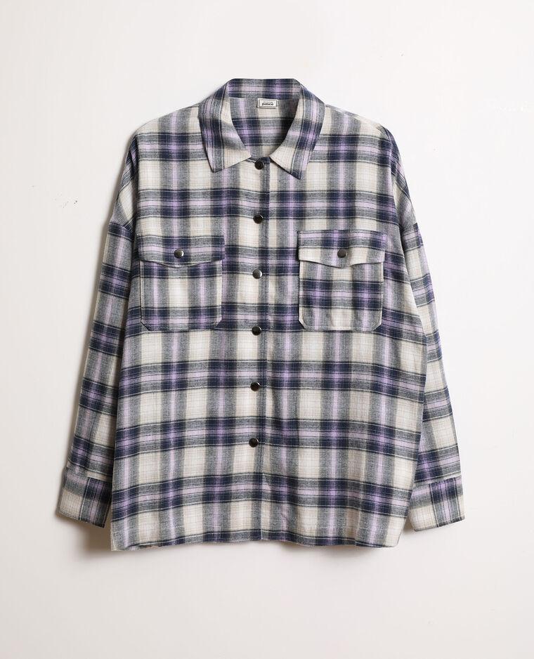Chemise oversized à carreaux blanc