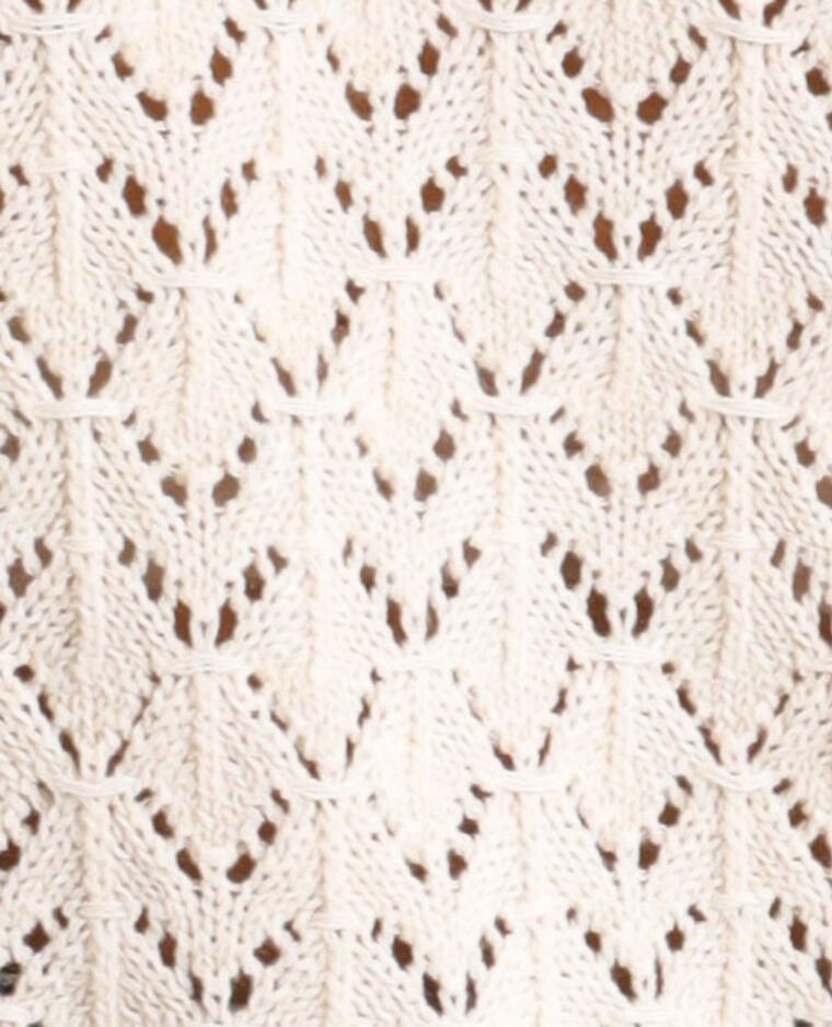 Top en crochet blanc cassé - Pimkie