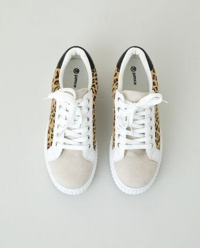 Baskets léopard beige taupe