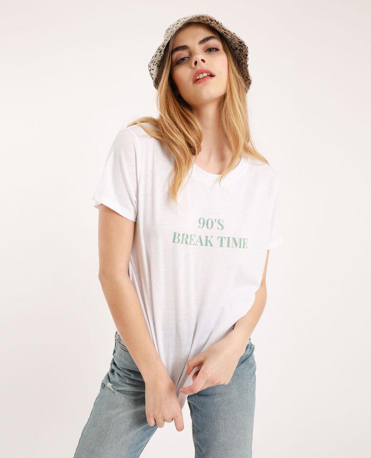 T-shirt à message blanc