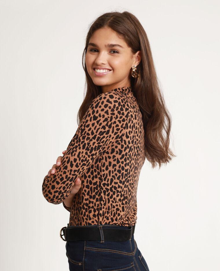 T-shirt léopard marron