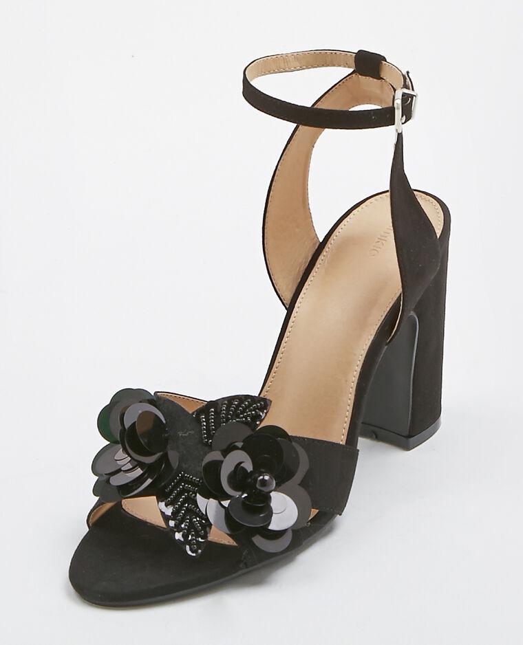 Sandales à fleurs noir - Pimkie