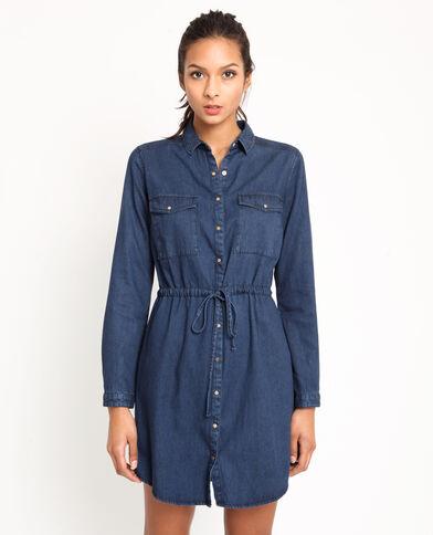 d5eb8cdd155be Robe en jean bleu foncé