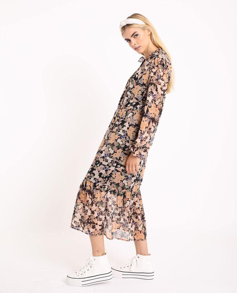 Robe fleurie noir