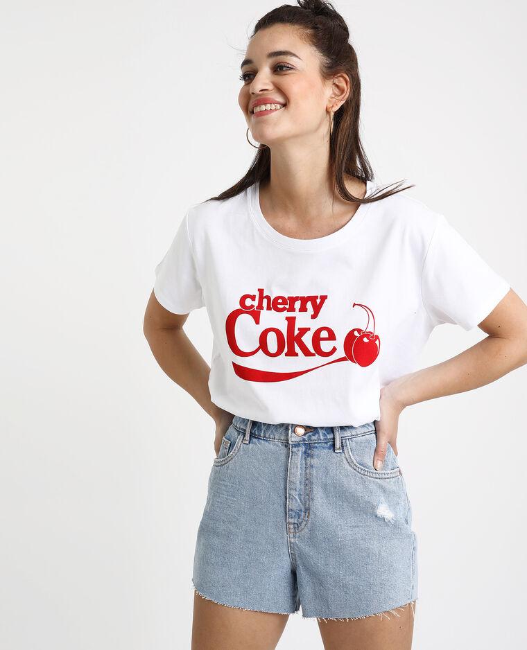 T-shirt Cherry Coke blanc