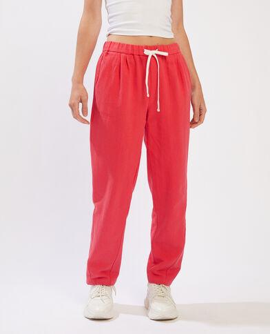 Pantalon jogging rouge - Pimkie