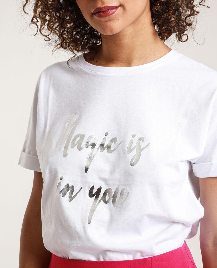 T-shirt Stéphanie Durant x Pimkie écru