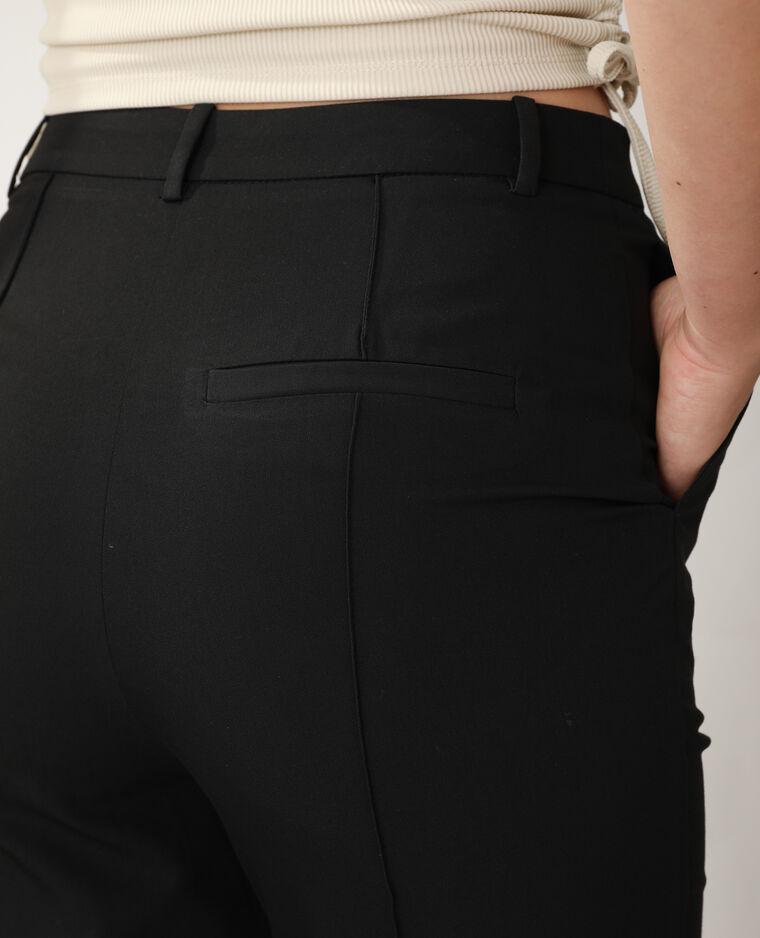 Pantalon flare à pinces noir - Pimkie