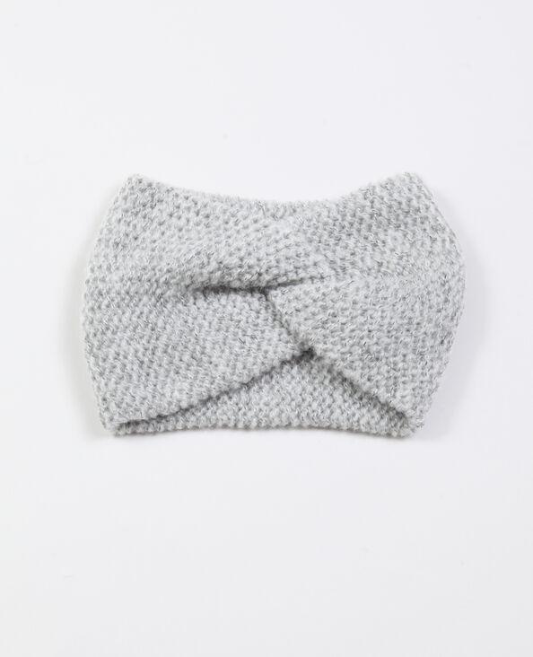Headband twisté gris perle