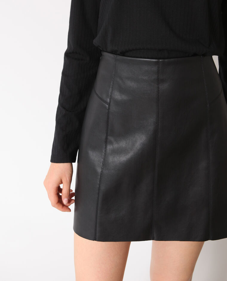 Jupe en faux cuir noir - 690504899A08   Pimkie 24be9ac4d6a
