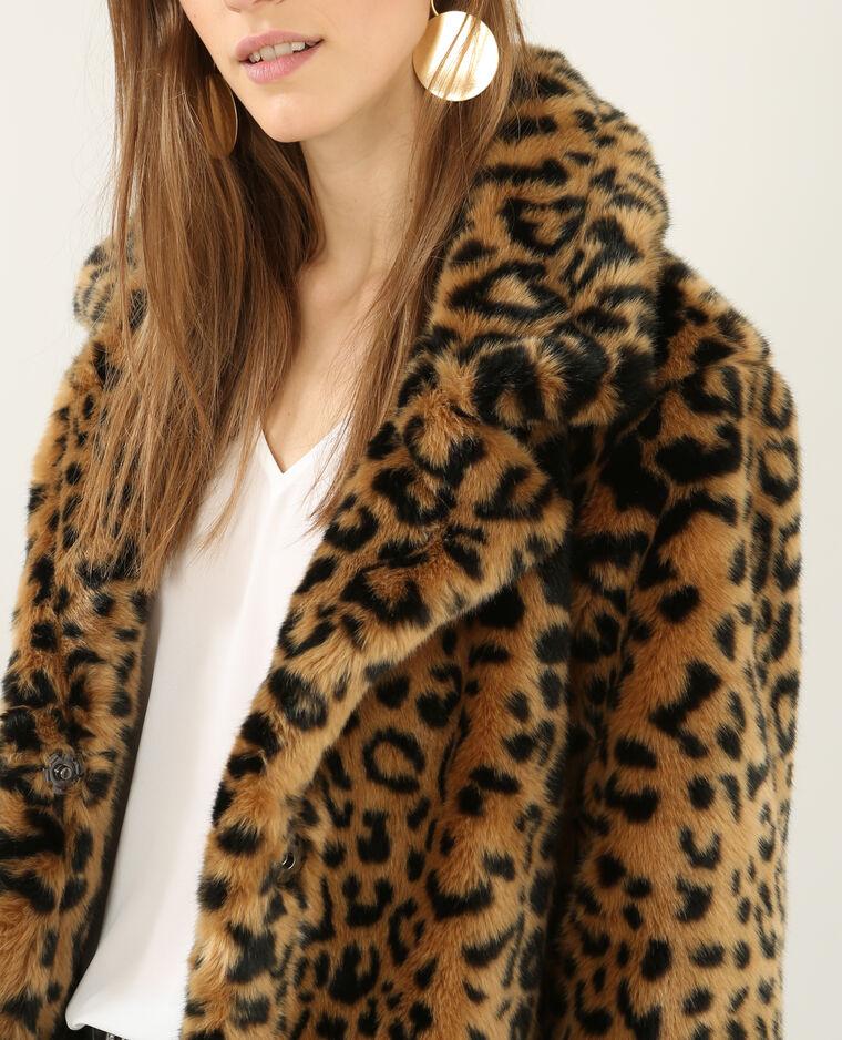 8d2c6b2133b2c Manteau léopard fausse fourrure beige - 280147714I08   Pimkie