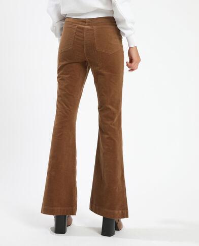 Pantalon flare velours beige ficelle - Pimkie