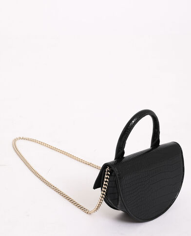 Mini sac demi-lune noir
