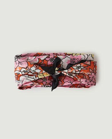 Foulard pour cheveux fleuri rose - Pimkie