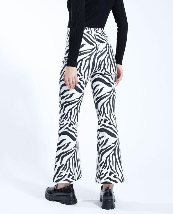 Pantalon bootcut zèbre blanc - Pimkie
