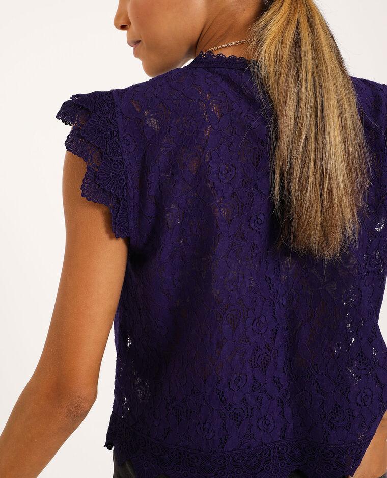 Top dentelle violet - Pimkie
