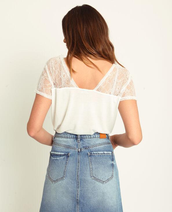 T-shirt dentelle blanc cassé d9cf6ce5c08
