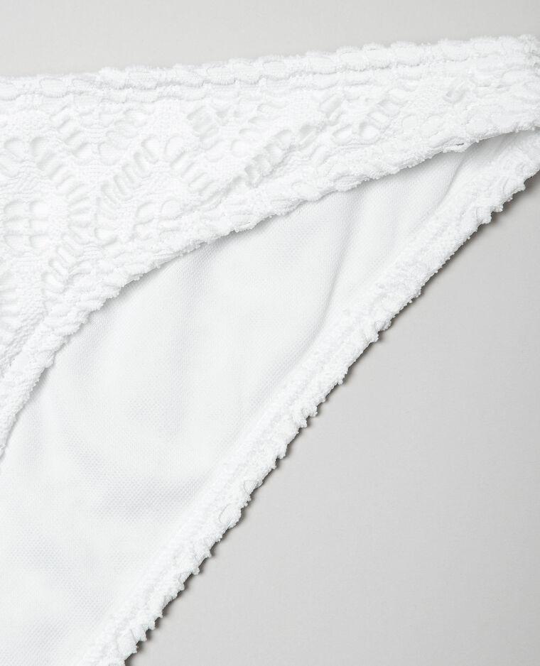 Bas de maillot de bain crochet écru - Pimkie