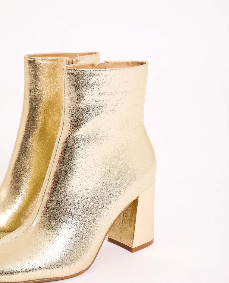 Bottines dorées doré