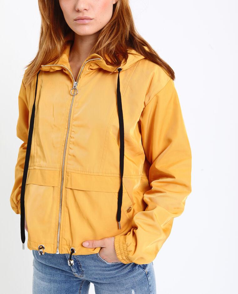 Coupe-vent à capuche Orange