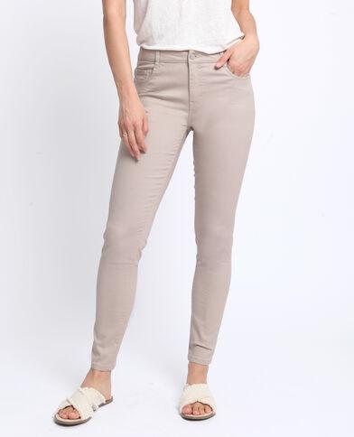 Pantalon push up mid waist blanc