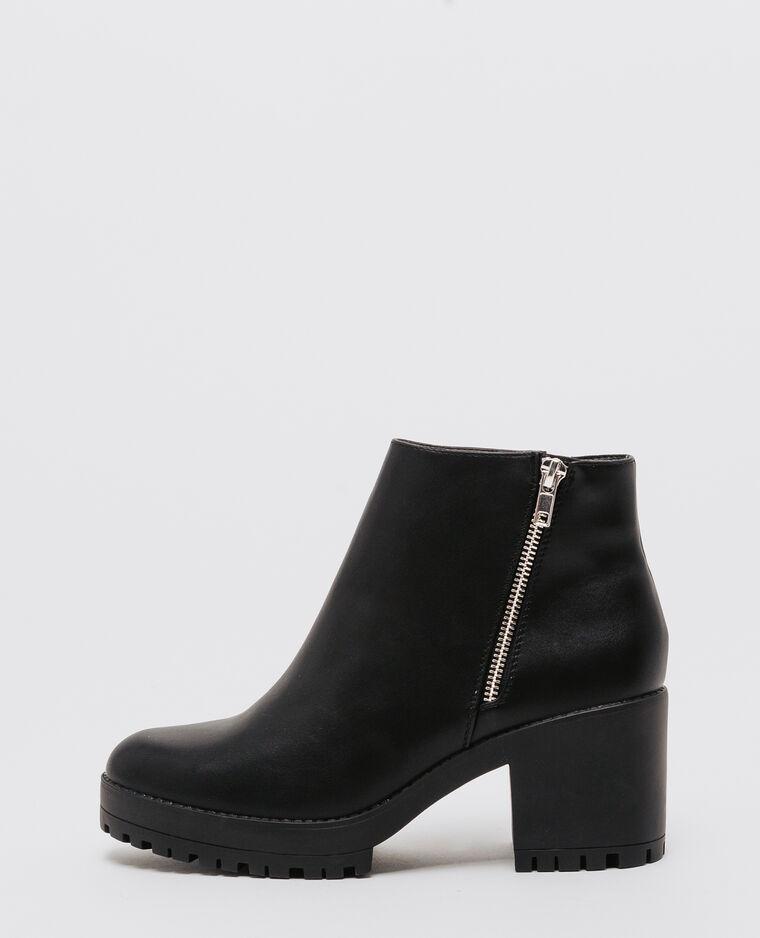 eb7b229ecfc Boots à semelle crantée noir - 907147899A08