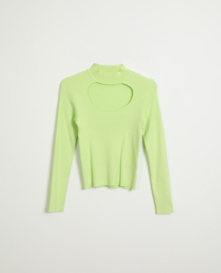 Pull ouvert Jaune fluo
