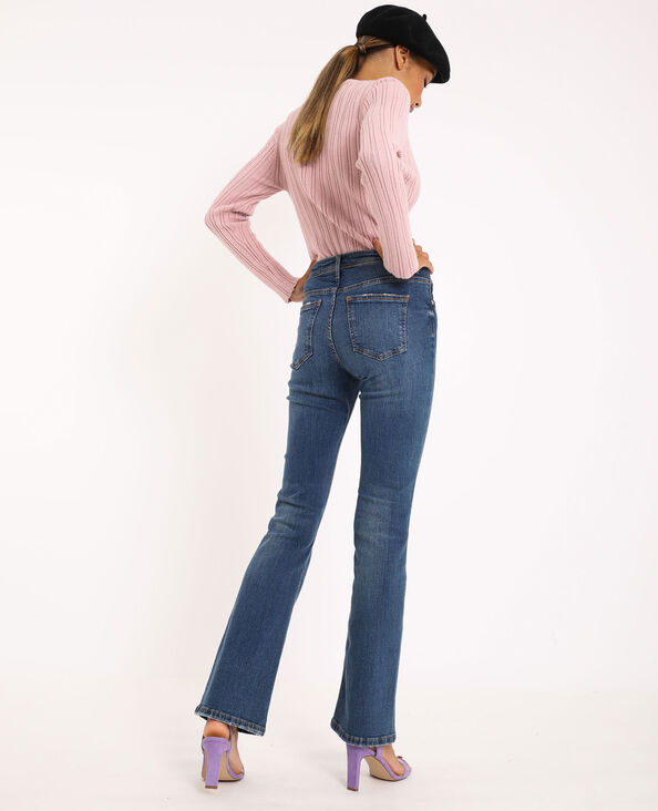 Jean flare mid waist bleu brut - Pimkie
