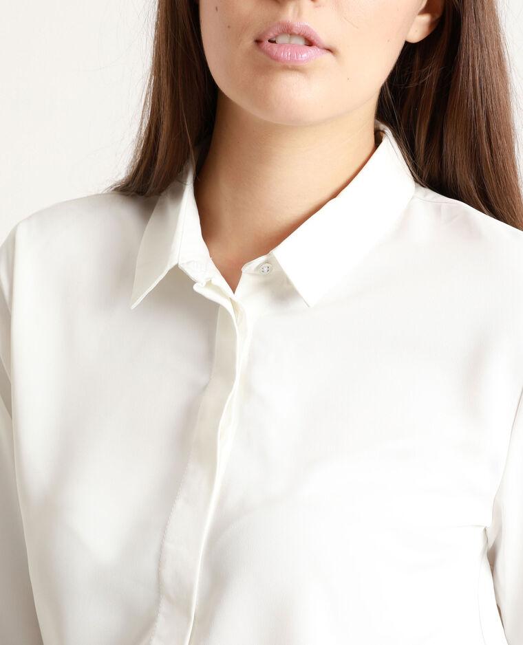 Chemise fluide blanc cassé