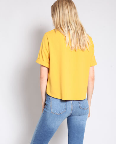 Blouse à boutons jaune