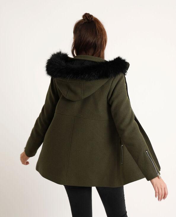 Manteau à capuche kaki