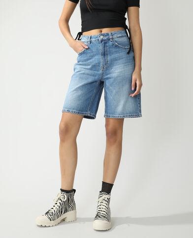 Bermuda en jean high waist bleu denim - Pimkie