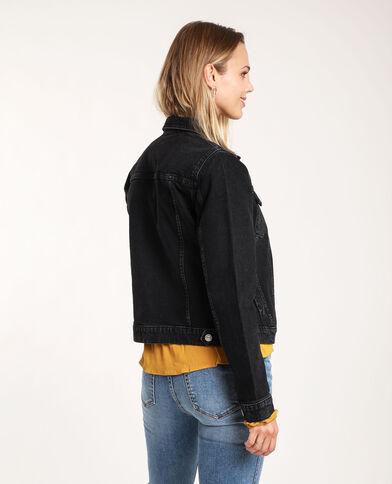Veste en jean foncé noir
