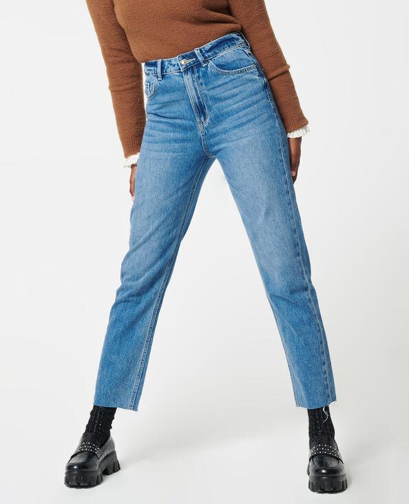 Jean taille haute bleu denim - Pimkie